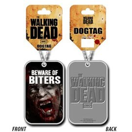 Geen The Walking Dead : Beware of Biters - Dog Tag Necklace
