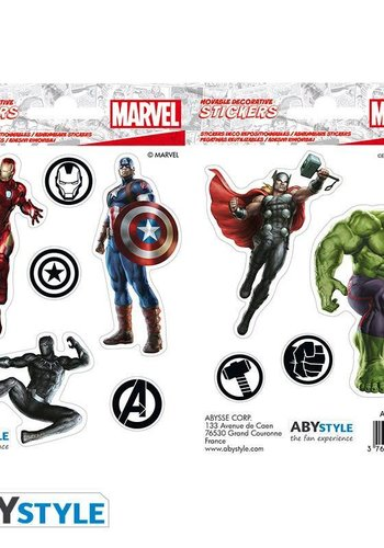 MARVEL -Stickers - 16x11cm/ 2 sheets - Avengers X5