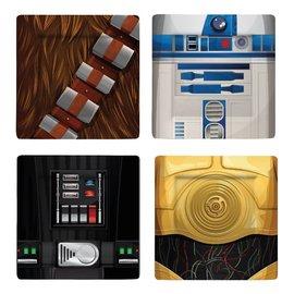 Underground Toys Star Wars: Plate Set: I Am Chewbacca, R2-D2, C-3PO, Darth Vader