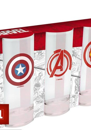 MARVEL - 3 glasses set
