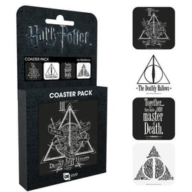 Hole In The Wall Harry Potter Deathly Hallows - Coaster Set 4