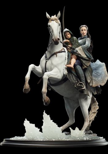 Arwen and Frodo on Asfaloth-Weta