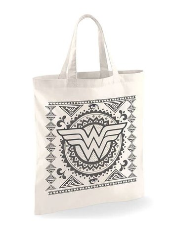 Wonder Woman - Aztec Pattern tote BAG - WHITE