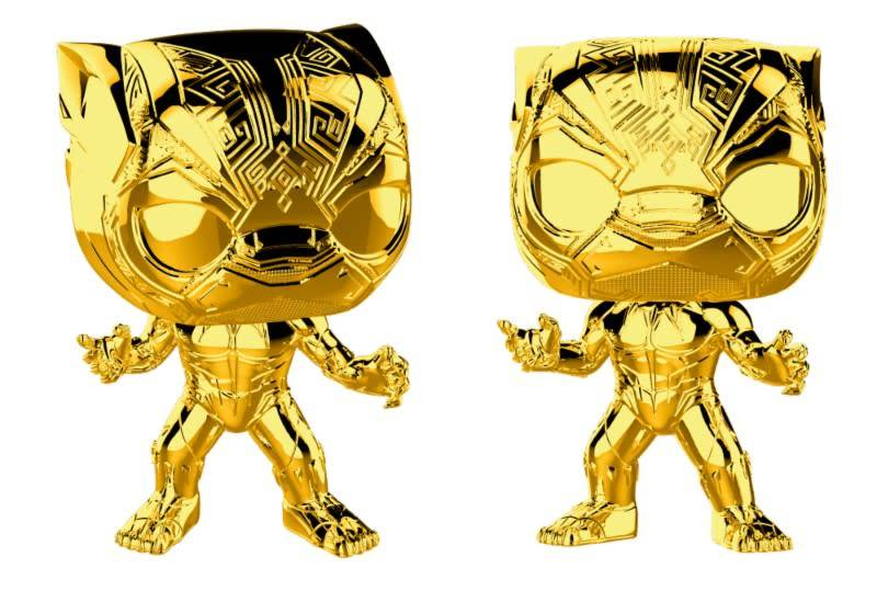 Pre-Order Pop! Marvel: MCU 10th Aniversary - Chrome Black Panther