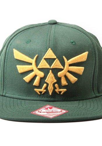 The Legend of Zelda: Embroided Gold Logo Green Snapback