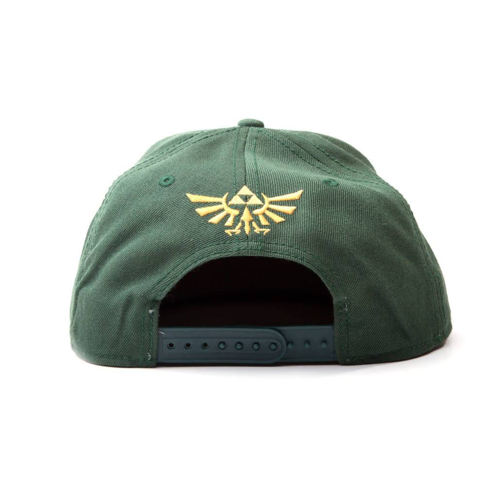 Bioworld The Legend of Zelda: Embroided Gold Logo Green Snapback