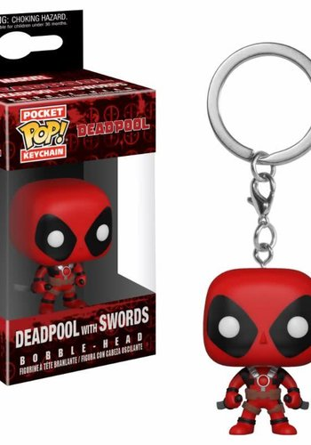 Pocket Pop Keychain: Marvel - Deadpool with Swords
