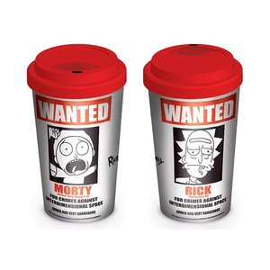 Hole In The Wall Rick and Morty: Wanted Travel Mug