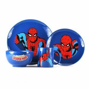 MARVEL 4 PIECE DINNER SET - SPIDER-MAN