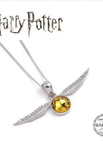Harry Potter Embellished with Swarovski® Crystals Golden Snitch Necklace