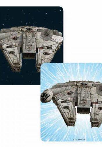 STAR WARS LENTICULAR COASTER - MILLENNIUM FALCON