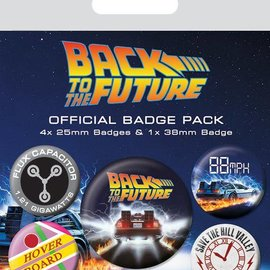 piramyd BACK TO THE FUTURE - PACK 5 BADGES - DELOREAN