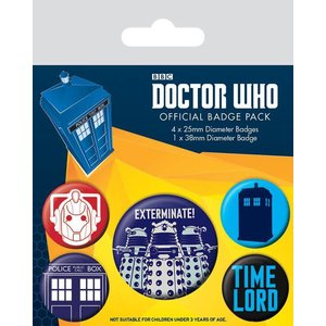 piramyd DOCTOR WHO - PACK 5 BADGES - EXTERMINATE
