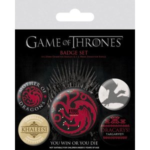 piramyd GAME OF THRONES - PACK 5 BADGES - FIRE AND BLOOD