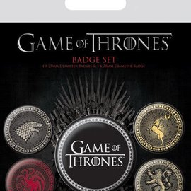piramyd GAME OF THRONES - PACK 5 BADGES - THE FOUR GREAT HOUSES