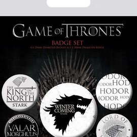 piramyd GAME OF THRONES - PACK 5 BADGES - WINTER IS COMING