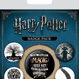 piramyd HARRY POTTER - PACK 5 BADGES - SYMBOLS