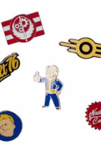 Fallout 76: Set of 6 Metal Pins