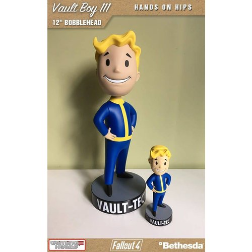 Gaming Heads Fallout: Vault Boy 111 - Hands on Hips - 12 inch Bobblehead