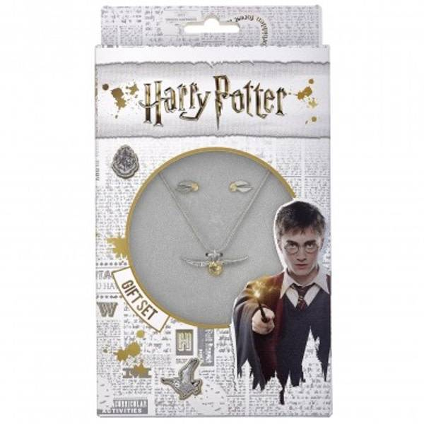The Carat Shop HARRY POTTER GOLDEN SNITCH NECKLACE AND STUD EARRING SET