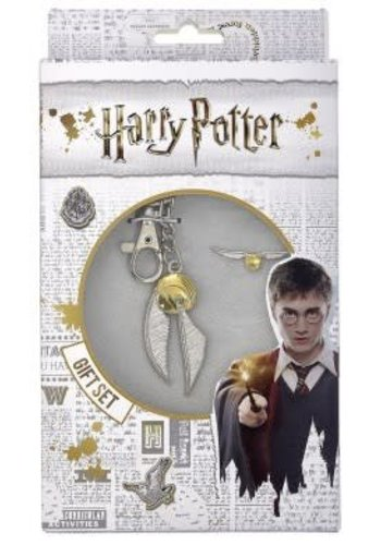 HARRY POTTER GOLDEN SNITCH KEYRING AND PIN BADGE SET