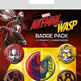 Hole In The Wall Marvel: Ant-Man and The Wasp Badge pack