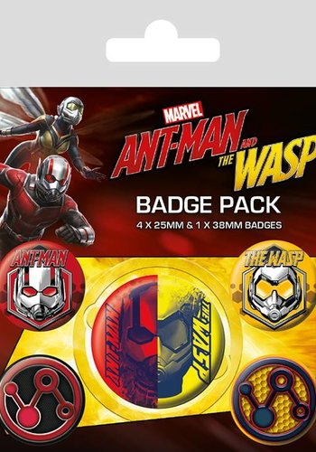 Marvel: Ant-Man and The Wasp Badge pack