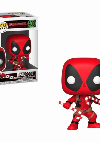 Pop! Marvel: Holiday Deadpool with Candy Canes