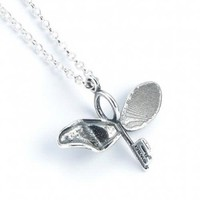 Official Sterling Silver Harry Potter Flying Key With a broken Wing Necklace  .