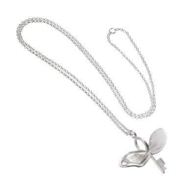 The Carat Shop OFFICIAL STERLING SILVER HARRY POTTER FLYING KEY WITH A BROKEN WING NECKLACE
