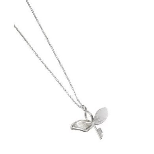 The Carat Shop Official Sterling Silver Harry Potter Flying Key With a broken Wing Necklace  .
