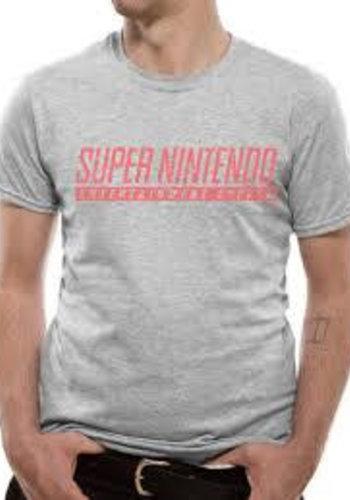 NINTENDO - SNES T-Shirt LIGHT GREY