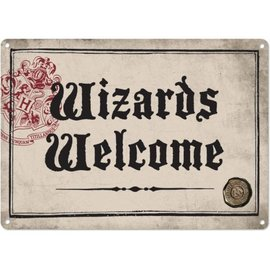 Half Moon  Bay Harry Potter Small Tin Sign - Wizards Welcome