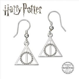 Warner Bross Harry Potter Embellished with Swarovski® Crystals Deathly Hallows Earrings