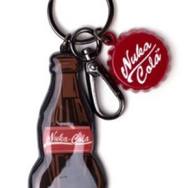 Bioworld Fallout: Nuka Cola Bottle Novelty Metal Keychain