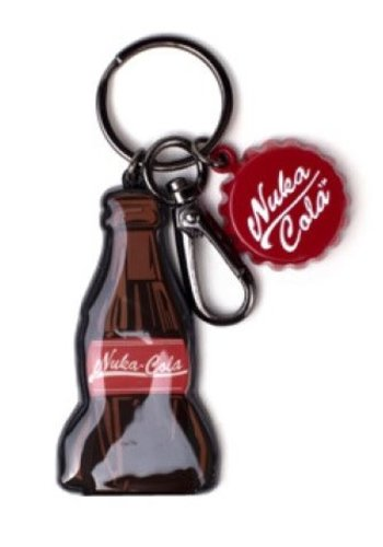 Fallout: Nuka Cola Bottle Novelty Metal Keychain