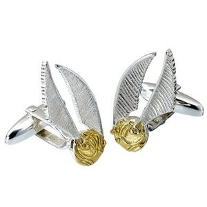 The Carat Shop HARRY POTTER STERLING SILVER GOLDEN SNITCH CUFFLINKS