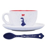 DISNEY MARY POPPINS CUP & SAUCER SET - PRACTICALLY PERFECT