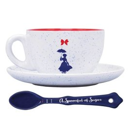 Half Moon  Bay DISNEY MARY POPPINS CUP & SAUCER SET - PRACTICALLY PERFECT