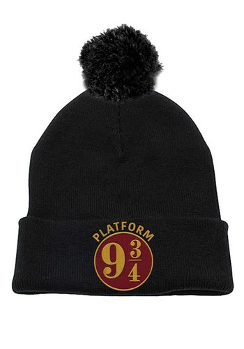 Harry Potter - 9 And 3 Quarters Beanie Headwear - Black