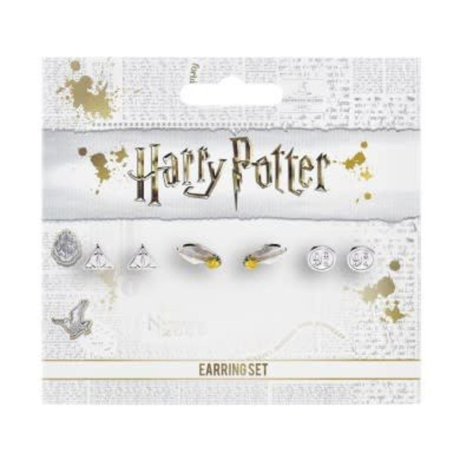 Harry Potter: Earring Set Deathly Hallows - Golden Snitch -