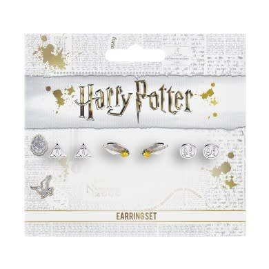 The Carat Shop Harry Potter: Earring Set Deathly Hallows - Golden Snitch -