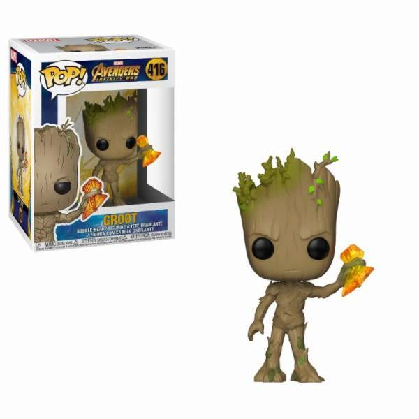 FUNKO Pop! Marvel: Infinity War - Groot with Stormbreaker