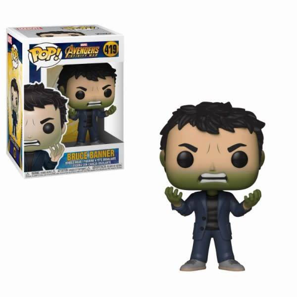 FUNKO Pop! Marvel: Infinity War - Banner with Hulk Head