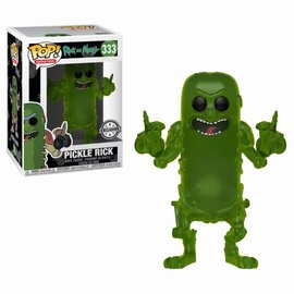 FUNKO Pop! Cartoons: Rick and Morty - Translucent Pickle Rick LE