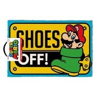 Super Mario: Shoes Off Doormat