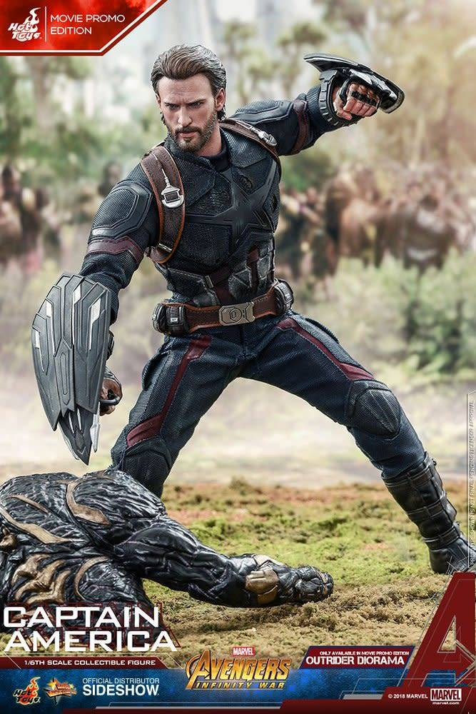 Hot Toy Marvel: Avengers Infinity War - Captain America Movie Promo 1:6 Scale Figure
