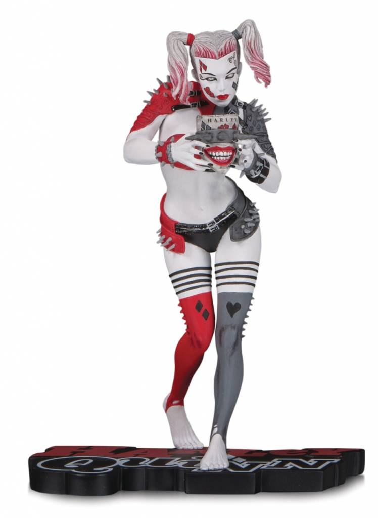 Diamond Direct PRE ORDER DC Comics: Harley Quinn Red White and Black Statue by Greg Horn