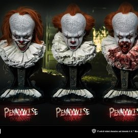 Prime 1 Studio PRE ORDER: IT: Pennywise 1:2 Scale Bust Set