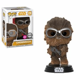 FUNKO Pop! Star Wars: Solo - Flocked Chewie with Goggles LE